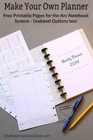 Free Online Monthly Planner 2019 Free Printable Planner Pages The Make Your Own Zone