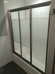 view larger image a triple track bypass sliding shower doors door bottom replacement parts