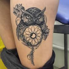 Dream Catcher Tattoo On Thigh Stunningly Dreamcatcher Tattoo on Thigh 45