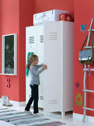 Locker Style Bedroom Furniture Locker Wardrobe Brushed White Nest Designs