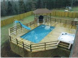 above ground swimming pool ideas. Pools With Decks The Best Above Ground Swimming Ideas On Garden Around Pool Installing And Deck O