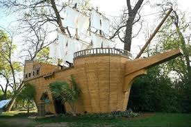pirate ship playhouse for fun kids backyard playroom design pirate ship shaped brown wood pirate pirate ship