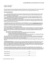 tenant renewal letter wisconsin lease renewal or notice to vacate ez landlord forms