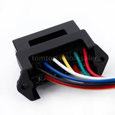 middle size atc ato 32v 6 way car blade fuse box block holder usa this 6 way fuse box in sturdy construction can be used in automotive electronic field motorsport applications electrical devices trailers cars boats