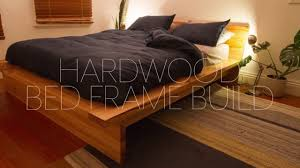 diy hardwood bed frame build