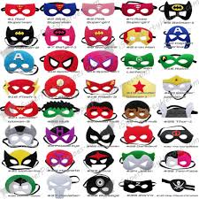 Superhero Masks To Decorate