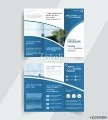 Business Fold Brochure Layout Design Vector Template Tri