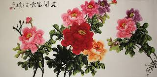 colorful peony flowers br big chinese painting