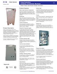 Booster Pump Controllers Cutler Hammer Pdf Catalogs