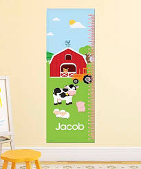 Farm Growth Chart Spark Spark Personalized A Day In The Farm Growth Chart Decal