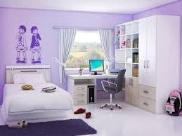 lavender wall paintLavender Teenage Girl Bedroom Paint Color With White Bed Frame And