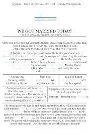 Wedding Reception Program Templates Wedding Day Program Template Party Reception Samples In