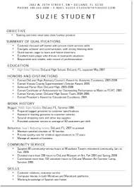 Resume For Teens 6 Resume Examples For Teens 12 Free High School Student  Examples Teen Resumes Suziestudent