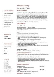 Simple Job Resume Outline Accounting Clerk Resume Sample Example Job Description