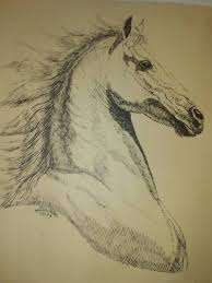 Cheap Horse Posters Horse Drawing Original Perillo 1986 One Of A Kind Mpls