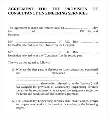 Model Consulting Agreement Template Engineering Services Contract ...