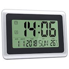 large office clocks. HeQiao Digital Wall Clocks Large Decorative Silent Desk Clock Battery  Operated Easy To Read LCD Large Office Clocks N