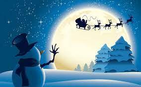 Christmas Reindeer Sleigh Wallpaper ...