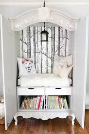 diy narnia wardrobe reading nook blesserhouse com a plain thrifted armoire gets