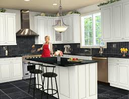 Kitchens With Slate Appliances With Black Appliances Black Kitchen Kitchen Color Ideas With Oak