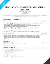 Mechanical Design Engineer Resume Best Mechanical Engineering