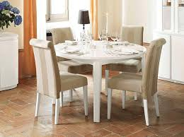 modern round expandable dining table