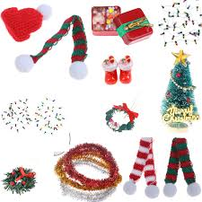 Candy Christmas Lights Us 1 06 31 Off New Dollhouse Miniature Accessories Christmas Lights Gift Box Model With Candy Boots Tree Wreath Pine Drop Santa Claus Hat Decor On