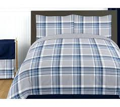 blue and gray bedding sets navy blue and grey plaid twin boys teen bedding set collection blue and gray bedding