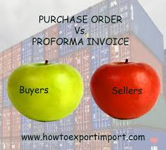 pi proforma invoice difference between purchase order and pro forma invoice