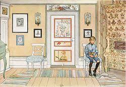 child discipline time out painting by carl larsson