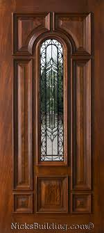 single front doorsExterior Mahogany Single Doors