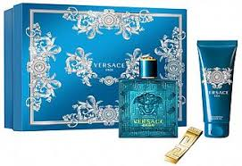 versace eros eau de toilette 100ml shower gel 100ml money clip gift set