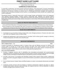 Communications Resume Template Communications Resumes