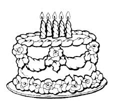 Cake Coloring Pages Cake Coloring Page Free Birthday Cake Coloring