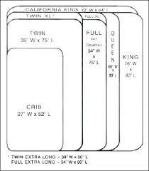 Mattress Size Comparison Chart Bed Size Comparison Konsulatet Org