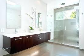 floating door floating vanity bathroom contemporary with dark wood vanity clear glass shower door door