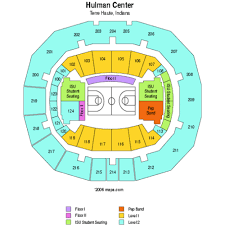 Hulman Civic Center Seating Chart True To Life Isu Hulman Center Seating 2019