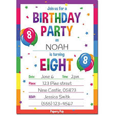 8th Birthday Party Invitations 8th Birthday Party Invitations With Envelopes 15 Count 8 Year