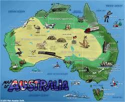 australia tourist map travel map of australia australian