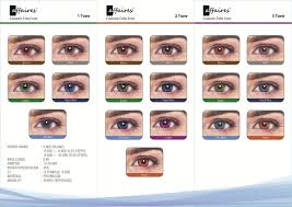 Affaires Color Contact Lenses Chart Colored Contacts