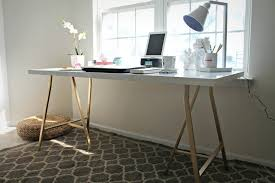 office desk table tops. IKEA Hack \u2013 White Table Top With Gold Legs. Bought These Pieces To Copy For Office Desk Tops