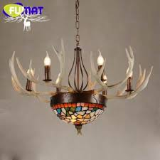 fumat antlers resin chandelier lamp modern led antler chandelier re restaurant chandeliers vintage led light novelty