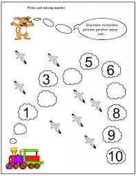 Number Worksheets For Kindergarten Numbers Learning Counting ...