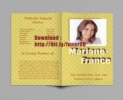 Free Funeral Program Templates Download Magnificent Free Funeral Program Templates