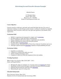 Advertising Account Executive Resume Sample Networking To Find Cover Letter  For Resume For It Professionals 12