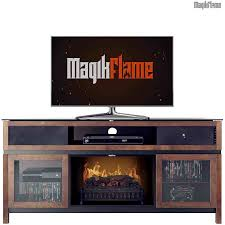 fullsize of floor mgk 26mms94667 mch chocolate wood media mantel fireplace front view w tv dimplex
