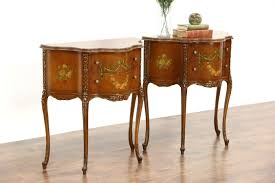 Antique Night Stands Sold Pair French Style 1920s Vintage Nightstands End Tables