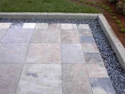 Small Picture slate tile patio with mexican pebble borderJPG Patio