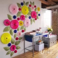 Tissue Paper Flower Decor Hanging Tissue Paper Flowers For Wedding Decoration Paper Folding