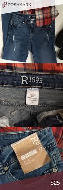R1893 Straight Leg Mid Rise Distressed Jeans Who Doesnt